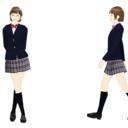 【MMDモデル配布】WEP式エキストラ(女子学生A子)テスト版