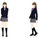 【MMDモデル配布】WEP式エキストラ(女子学生D子)テスト版