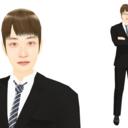 【MMDモデル配布】WEP式エキストラ(男子社員G介)