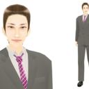 【MMDモデル配布】WEP式エキストラ(男子社員H介)