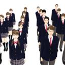 【MMDモデル配布】WEP式エキストラ全員学生パック(単体版)