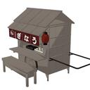【改造版】 夜雀屋台(木製車輪) 【モデル配布】
