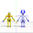 三柱式メダロットモデルの遊び方~パーツ換装~