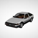 「MMDモデル配布」 Sprinter Trueno AE86