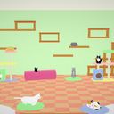 【MMD】猫カフェステージ