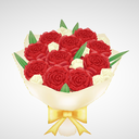 △1440  薔薇の花束