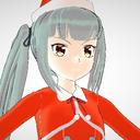 サンタカラーな霞さん