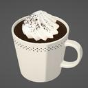 マグカップ ホイップクリームのせ