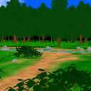 【MMD】森の中の川ステージの配布