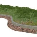 崖のある海岸道路(舗装道路)