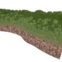 崖のある山道