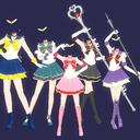 【MMD-OMF9】セラミュ風衣装 ちびムーン+外部戦士